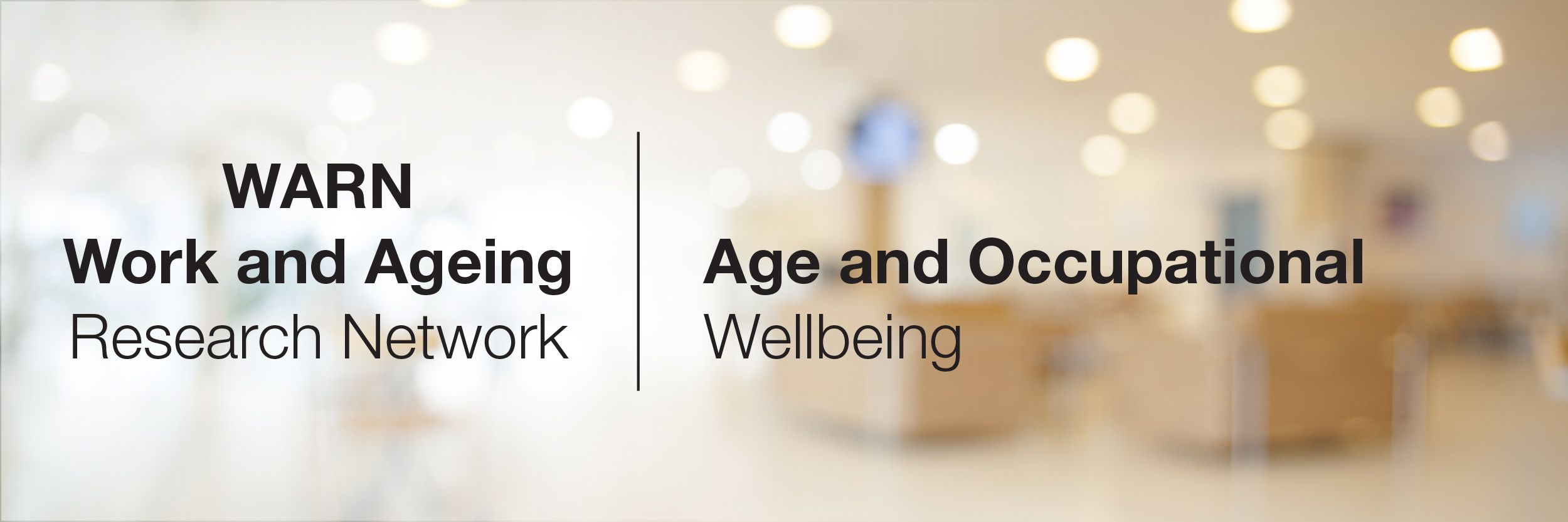 Age and occupational wellbeing